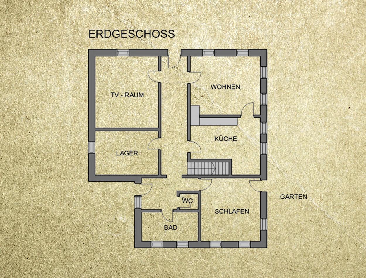 Plan Ferienhaus Erdgeschoss