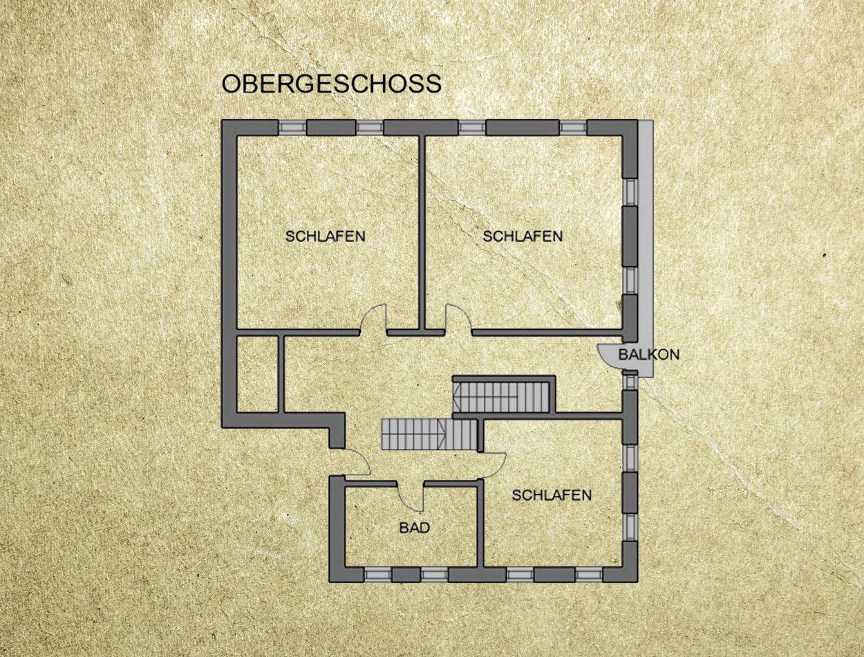 Plan Ferienhaus Obergeschoss
